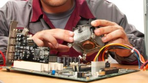 computer technician changing part